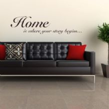 Home is where your Story Begins ~ Wall sticker / decals